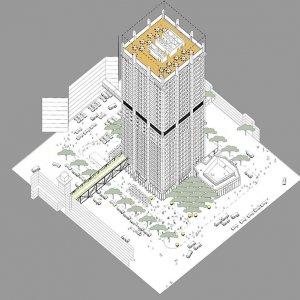Future Projects | Power and Justice WAFX Prize | Tower Inten City, Johannesburg, South Africa, Savage + Dodd Architects With Urbanworks © Savage + Dodd Architects